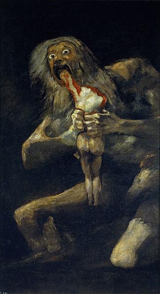 Saturno devorando a un hijo, de Goya