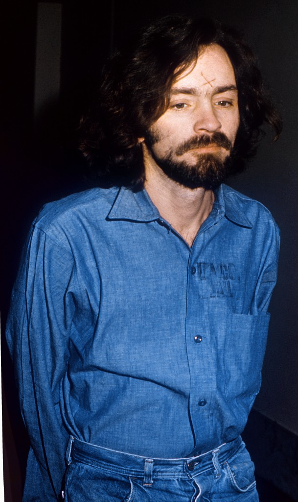 Portrait of Charles Manson, the murderer