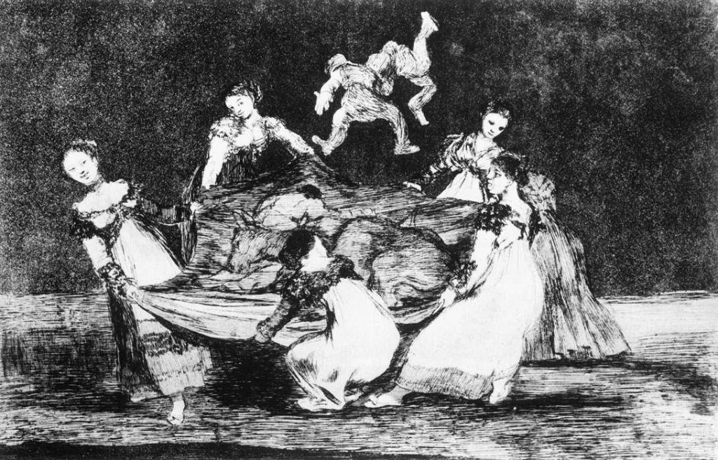 Disparate 1. Disparate femenino, entre 1815 y 1823. Francisco de Goya