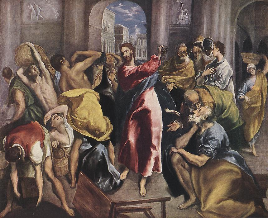 Expulsión de los mercaderes del Templo, de El Greco