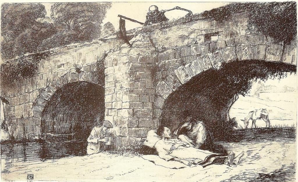 Final de la Jornada. La Muerte sobre el Puente, de 1910. Ricardo Baroja
