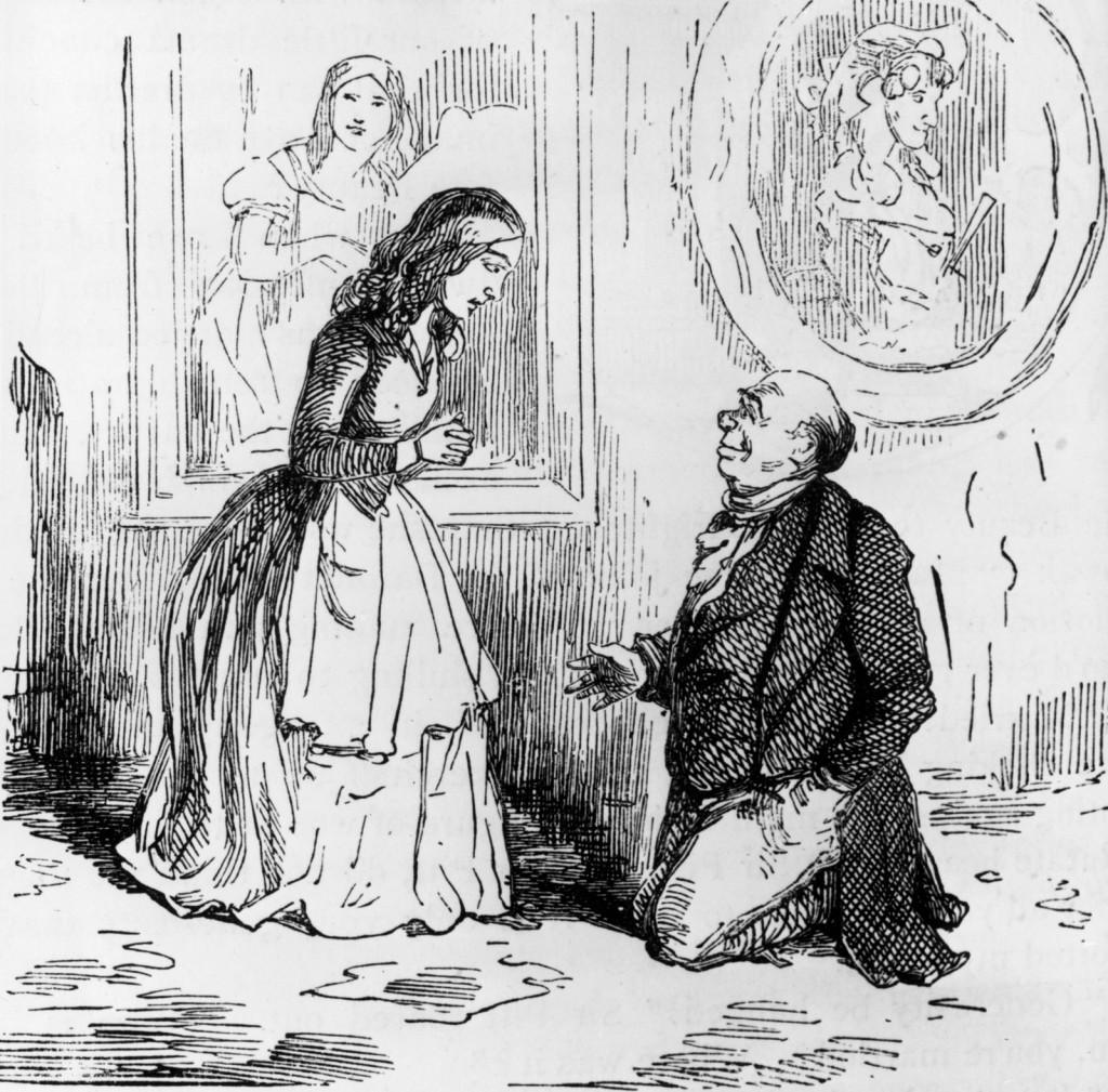 Ilustración de William Makepeace Thackeraypara su novela La feria de las vanidades - Hulton Archive
