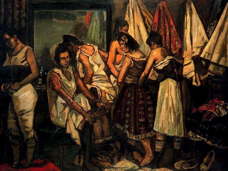 Las coristas, de 1921. José Gutiérrez Solana