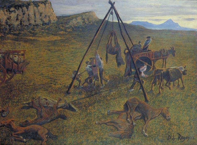 Víctimas de la fiesta, 1894. Darío de Regoyos