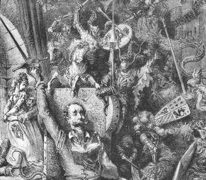 Don Quijote, grabado de Gustav Doré
