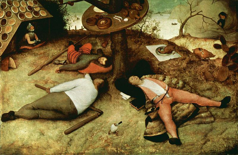 El país de Jauja, Pieter Brueghel el Viejo, 1567
