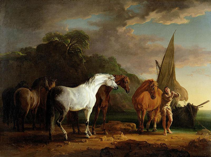 Gulliver Taking His Final Leave of the Land of the Houyhnhnms, Sawrey Gilpin, 1769