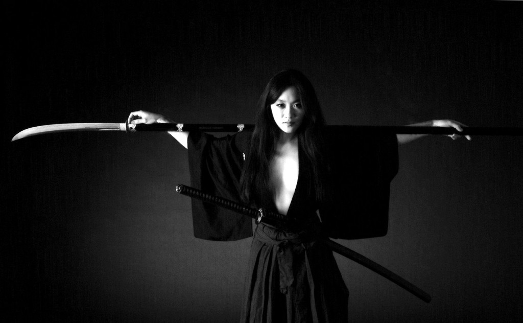 Naginata woman