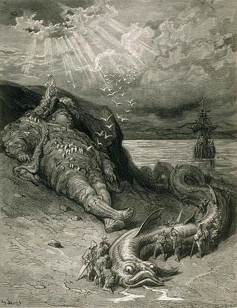 Pantagruel dibujado por Gustave Doré