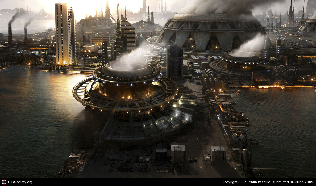 futuristic industrie de Quentin Mabille (3D)