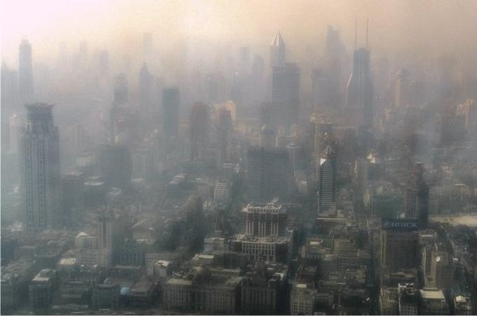 Amanecer en Shanghái.