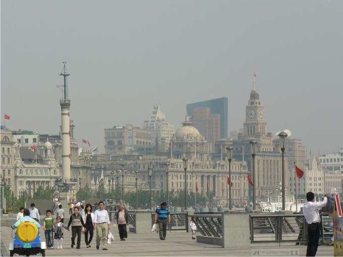 El Bund, símbolo histórico del poderío económico de Shanghai