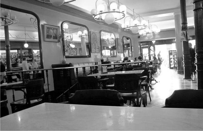 El café Novalty en la actualidad.
