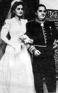 El día de su boda con María Luisa Larrañaga.