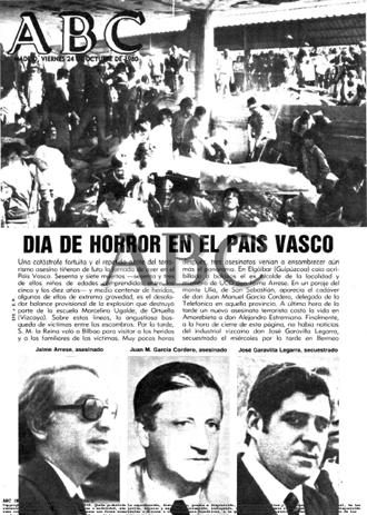 Portada del diario ABC del día 24 de octubre de 1980
