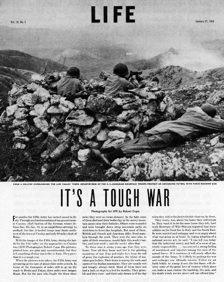 Recorte de la revista Life. Número de Enero 1944.