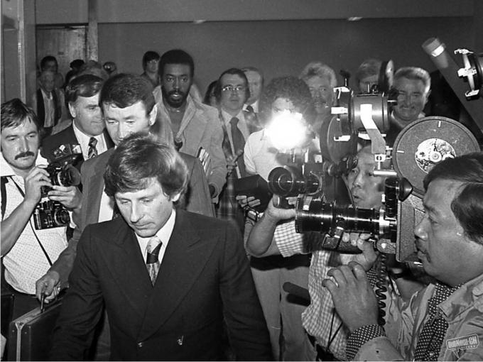 Polanski acude a declarar en 1977.