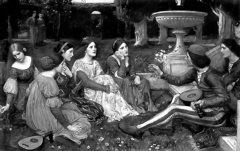 A tale of Decameron, de John William Waterhouse