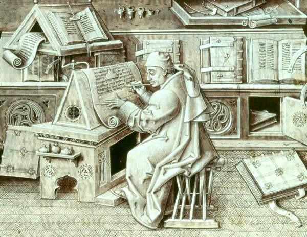 El escribano Jean Miélot.