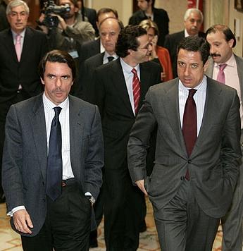 José María Aznar con Eduardo Zaplana