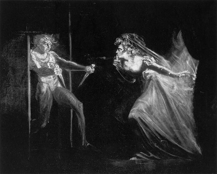 Lady Macbeth con dagas, de Johann Heinrich Füssli