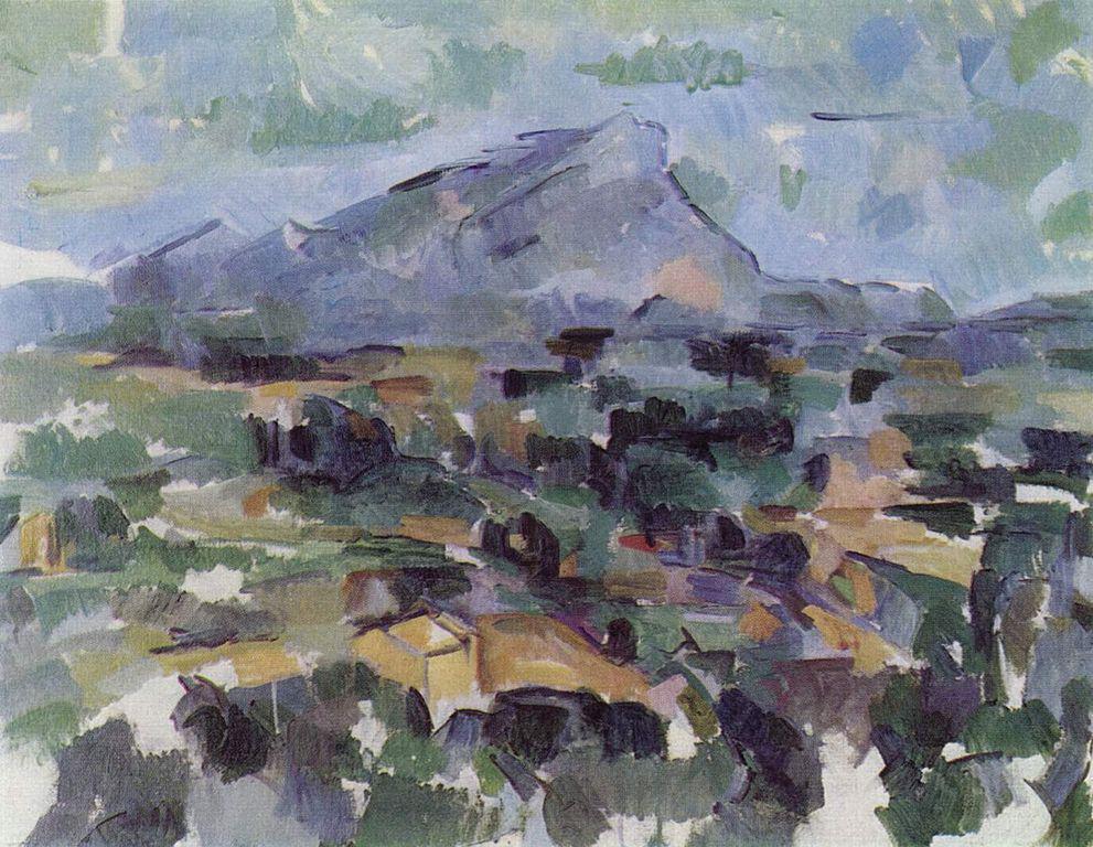 Paul Cézanne. La montaña Sainte-Victoire. 1905.