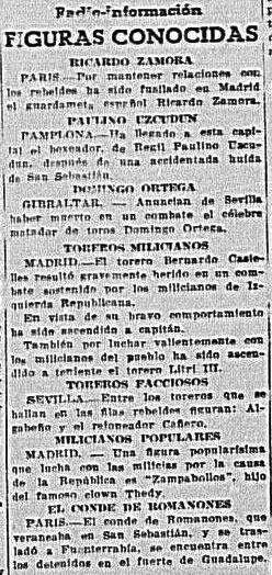 «Figuras populares» del diario Frente popular.