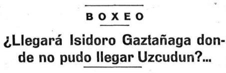 Recorte de la revista Boxeo.