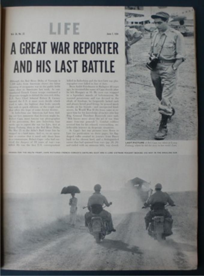 «La última batalla de Robert Capa». Revista Life, número del 7 de junio de 1954.