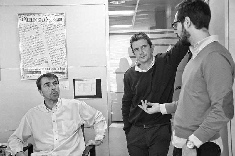 De izquierda a derecha: Jaime, Fernando y Álvaro.