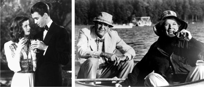 Katharine Hepburn y James Stewart en Historias de Filadelfia (CC)