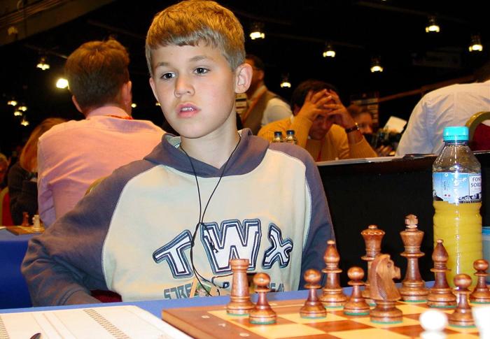 Magnus Carlsen de pequeño