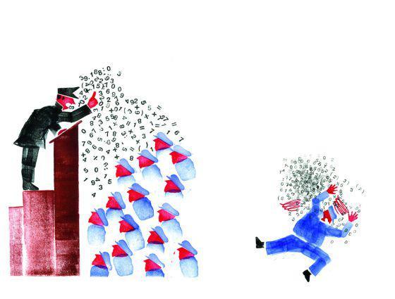 Ronan de Calan y Donatien Mary, ilustraciones originales de El fantasma de Karl Marx.