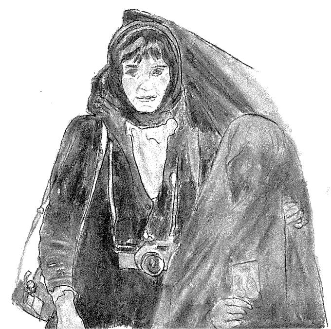 Christine Spengler. Ilustración de Raquel Villaécija.