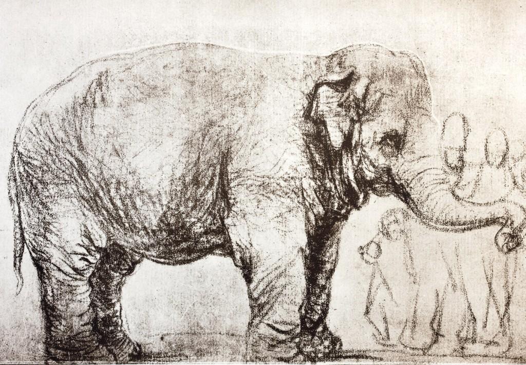 Elefante de Rembrandt. Imagen: British Museum.