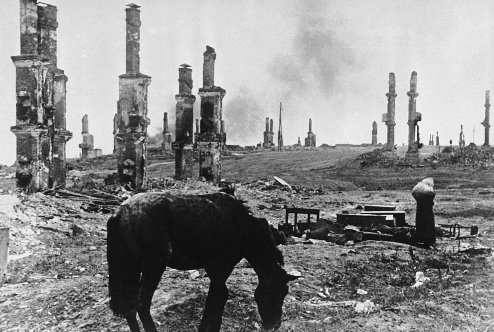 Las ruinas de Stalingrado (PD).