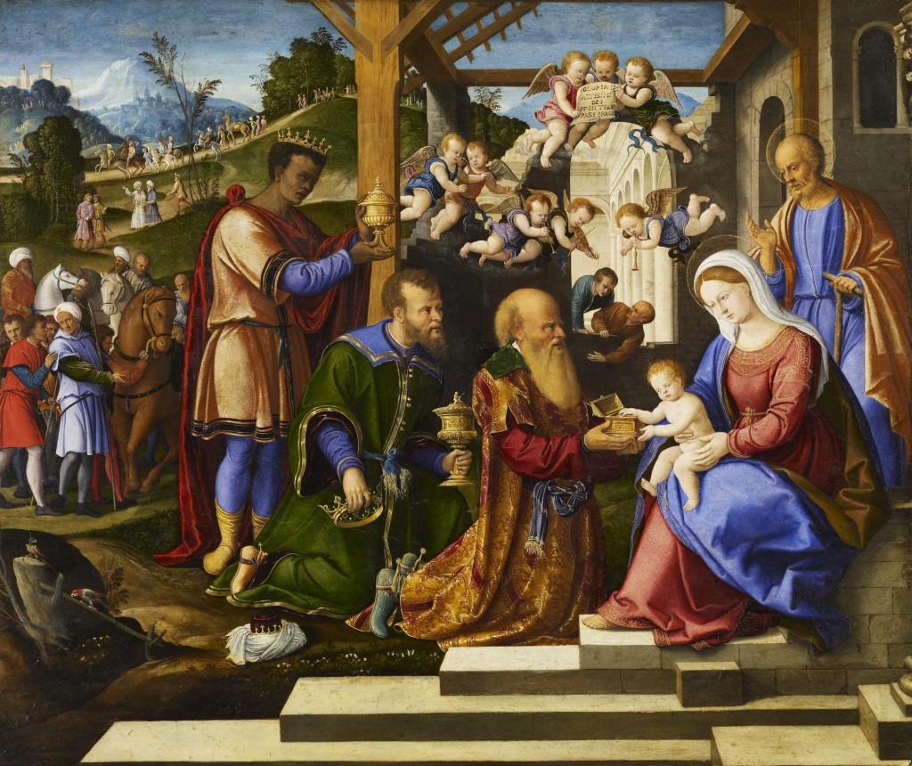 Los Reyes Magos no son los padres Girolamo_da_Santacroce_-_The_Adoration_of_the_Three_Kings_-_Walters_37261-1024x860