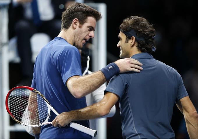 Juan Martín del Potro y Roger Federer. Foto Xinhua Wang Lili Cordon Press.
