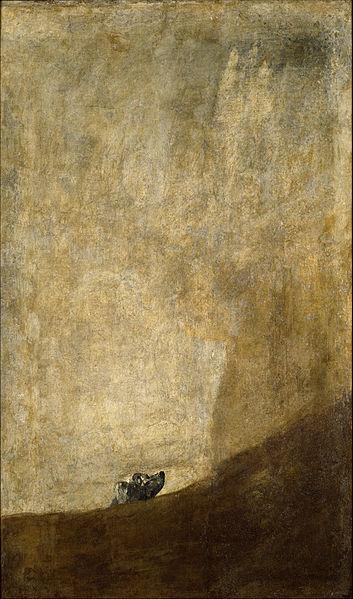 Perro semihundido, de Francisco de Goya.