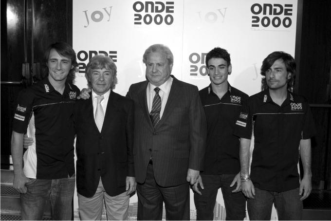 Presentacion del equipo Onde 2000 KTM, con Pablo Nieto, Rafaelle de la Rosa y Gelete Nieto, patrocinados por Francisco Hernando (Paco El Pocero). Foto: Cordon Press.