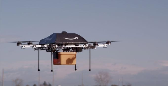 Prototipo del drone de Amazon. Foto: UP I/ Amazon / LANDOV / Cordon Press.