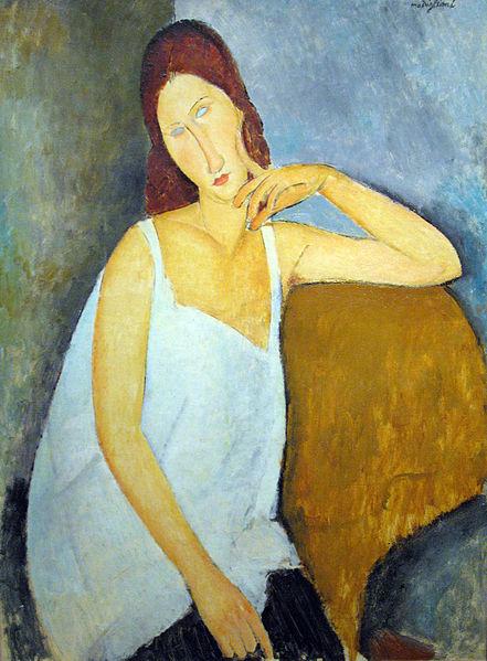 Retrato de Jeanne Hebuterne, de Amedeo Modigliani.