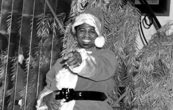 James Brown en la portada de Soulful Christmas.