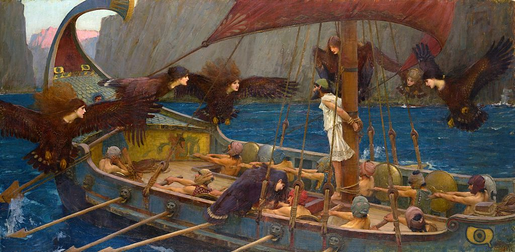 Ulises y las sirenas, por John William Waterhouse (CC).
