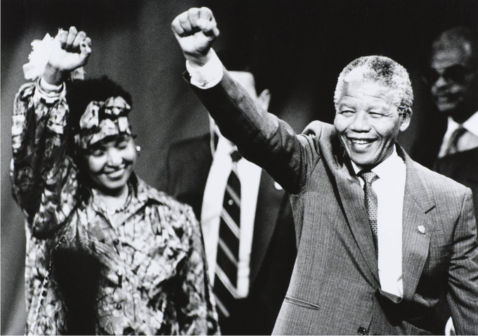 Winnie y Nelson Mandela. Foto: J. Mahoney / Cordon Press.