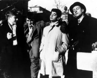 Hal Chase, Jack Kerouac, Allen Ginsberg y William Burroughs en Nueva York (DP)