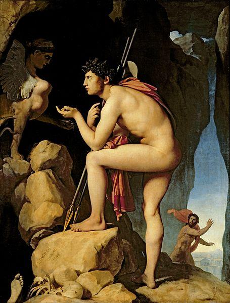 Edipo y la esfinge, Jean Auguste Dominique Ingres