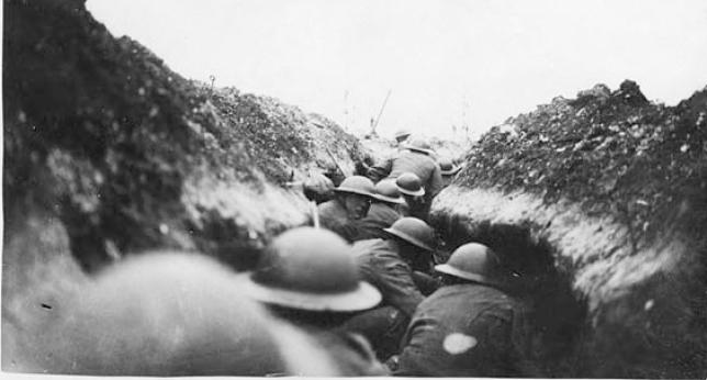 Trinchera en la Primera Guerra Mundial (DP)