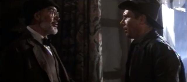 Sean Connery como padre de Indiana Jones, afortunada ocurrencia que benefició mucho a la tercera parte de la saga.