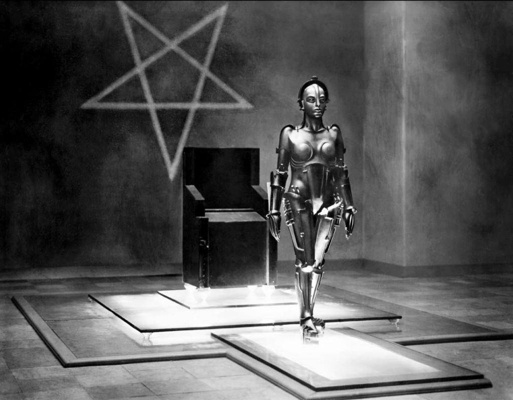 Metropolis, Fritz Lang (1927) UFA. Estrellas de cinco puntas y robots. Lo típico.